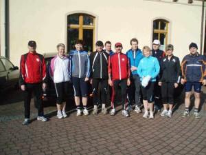 Start zum Lauf am 09. März 2008 nach Lausitz und an Zobersdorf vorbei zurück zum Haus des Gastes
